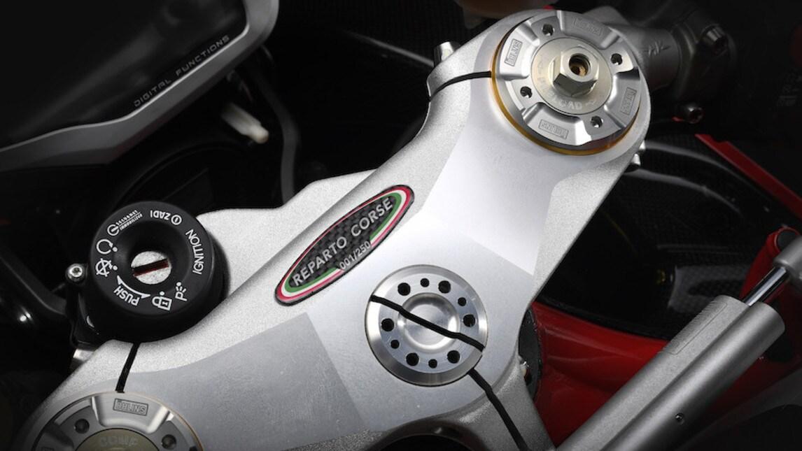 Direttamente dall'esperienza maturata nel Mondiale SuperBike prende forma la nuova versione della MV Agusta F4 RC, edizione limitata a soli 250 esemplari. La F4 RC ricalca la base tecnica della F4 Reparto Corse, a partire dal 4 cilindri in linea Corsa Corta (alesaggio 79 mm - corsa 50,9 mm) capace della potenza massima di 205 cv (151 kW), che possono diventare 212 col kit dedicato.