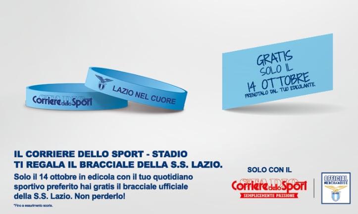 Il Corriere dello Sport ti regala il bracciale della Lazio