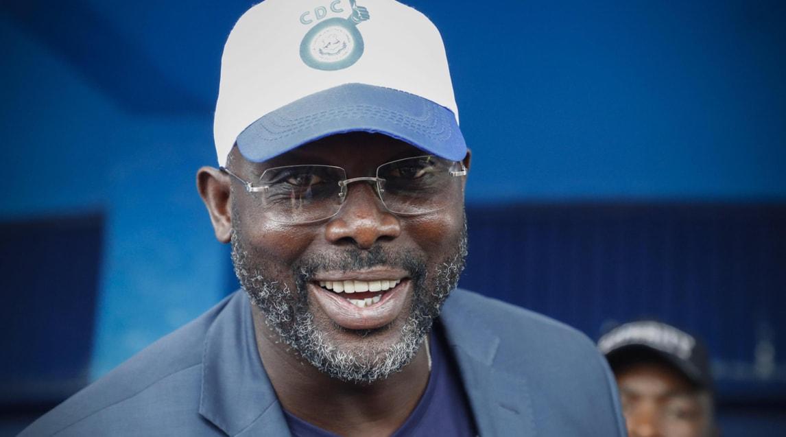 George Weah, primo non europeo e unico Pallone d'Oro africano, ora candidato presidenziale nella sua Liberia