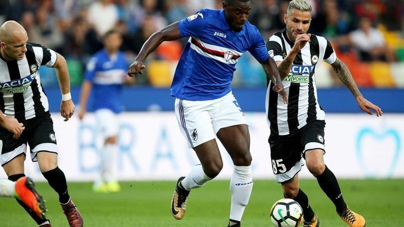 Serie A Sampdoria, lavorano a parte Zapata e Capezzi
