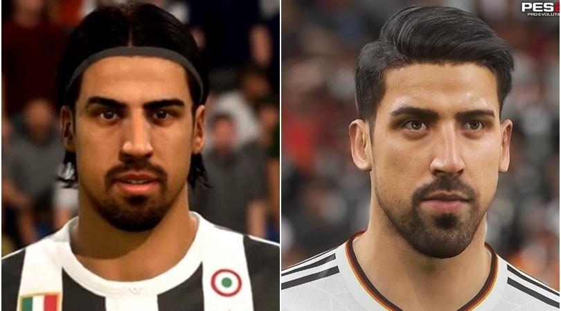 Juventus, Fifa18 non aggiorna il look di Khedira. Pes ne approfitta