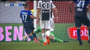 Juventus-Lazio, contatto Buffon-Immobile: l'arbitro concede il rigore