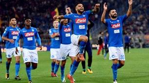 Roma-Napoli 0-1, che festa con Insigne all'Olimpico!