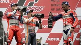 Gp Giappone, Dovizioso show: che festa sul podio!