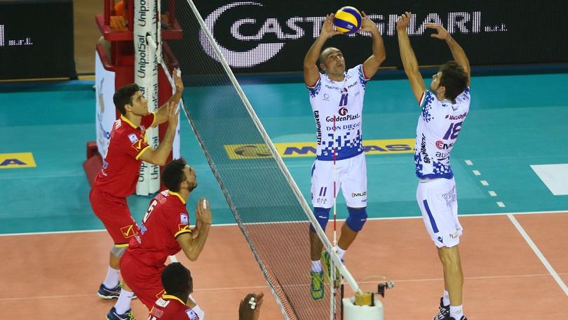 Volley: A2 Maschile, Girone Bianco: battute Siena e Catania, Roma sola in testa