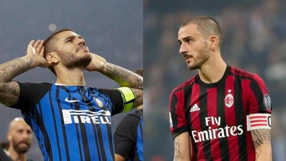 Inter-Milan, i top e flop del derby: Icardi da 9, male Bonucci