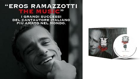 """""""Eros Ramazzotti the music"""", i suoi grandi successi in edicola con il Corriere dello Sport-Stadio"""