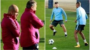 Aguero si allena col City e il Napoli non toglie il sonno a Guardiola