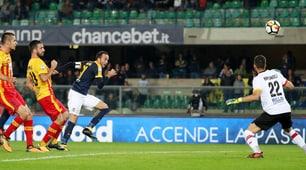 Verona-Benevento 1-0: Romulo inguaia Baroni, 'Bentegodi' in festa