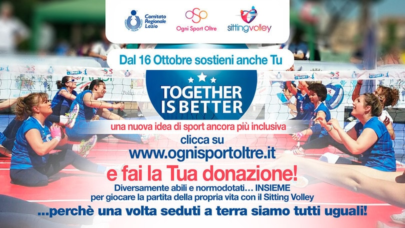 "Sitting Volley: da oggi online ""Sitting Volley – Together Is Better"","