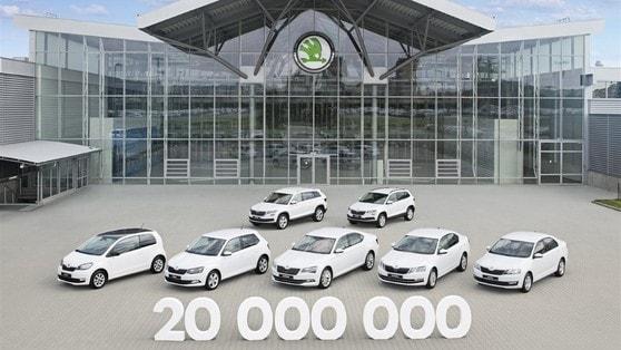 Skoda festeggia 20 milioni di auto prodotte