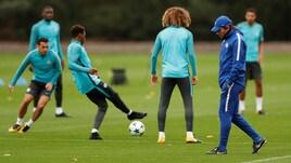 Chelsea, volti concentrati nell'ultima seduta prima della sfida contro la Roma