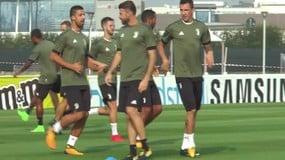 Juve, l'allenamento prima dello Sporting