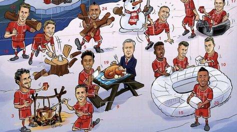 Bayern, che gaffe! Ancelotti nel calendario dell'Avvento
