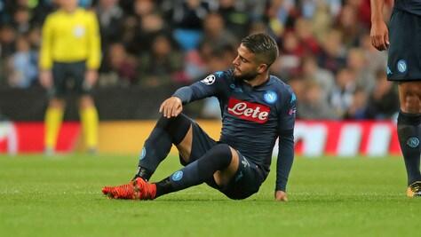 Napoli, contrattura per Insigne: in dubbio per l'Inter