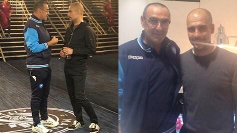 Manchester City-Napoli, il terzo tempo tra Sarri e Guardiola