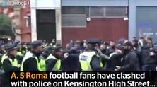 Tafferugli tra tifosi della Roma e polizia a Londra: un arresto