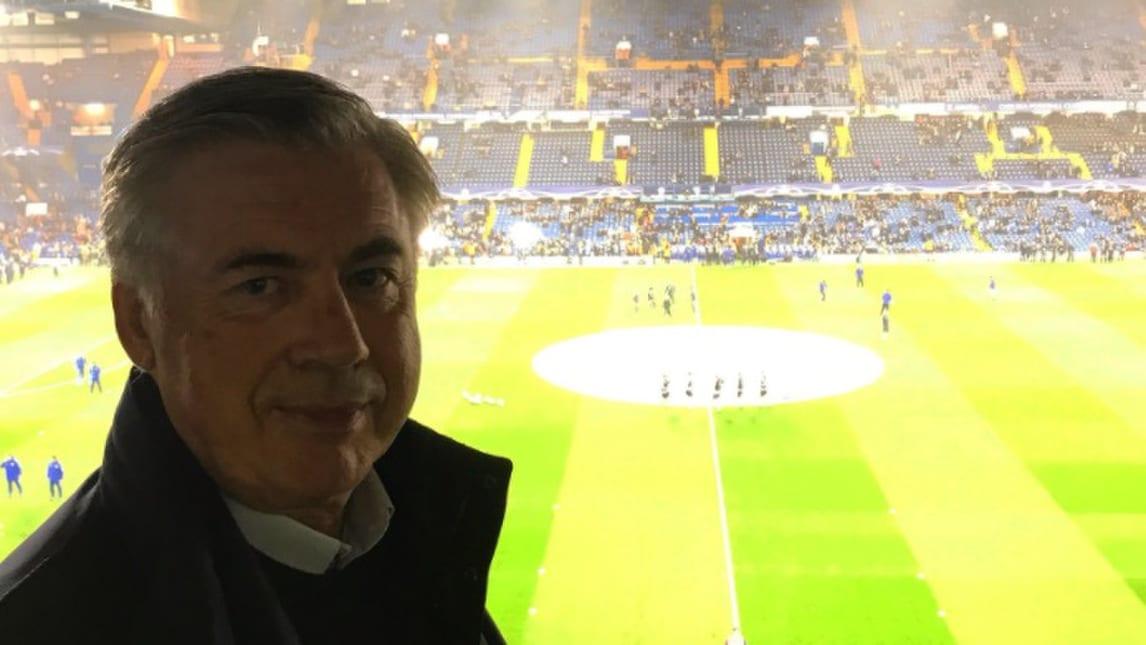 Chelsea-Roma, c'è anche Ancelotti a Stamford Bridge