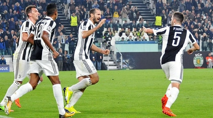 Juventus-Sporting Lisbona 2-1: Pjanic e Mandzukic firmano la rimonta