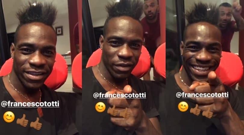 Nizza-Lazio, Balotelli a Totti: «Francé, mi tifi anche tu?»