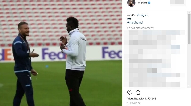 Balotelli, messaggio a Ventura: «Italia? Magari!»