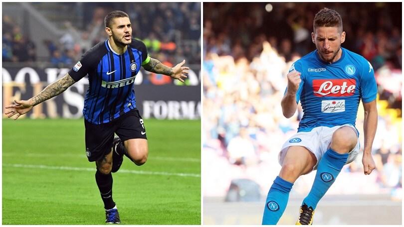 Napoli-Inter, Mertens sfida Icardi: il duello delle meraviglie