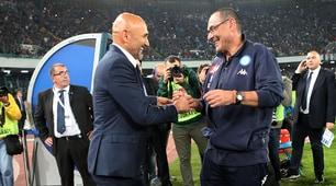 """Spalletti al San Paolo: sorrisi e abbracci con il """"ministro"""" Sarri"""