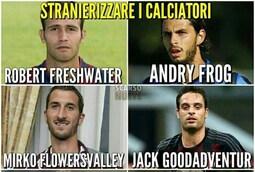 E se i giocatori italiani fossero stranieri? Ecco come suonerebbero i loro nomi