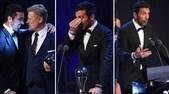 Buffon emozionato durante la premazione dei Fifa Football Awards