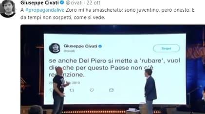 Juventus, Pippo Civati: «Sono juventino, ma onesto»