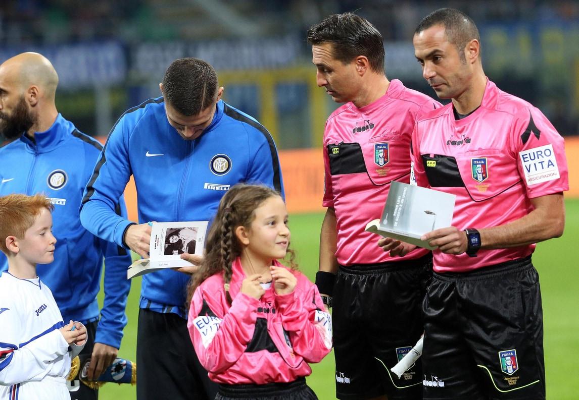 """Inter e Sampdoria in campo con """"Il Diario di Anna Frank"""""""