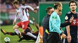 Coppa di Germania, Lipsia-Bayern: spunta il Var sul cellulare