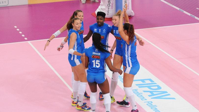 Volley: A2 Femminile, il Club Italia travolgente contro Caserta