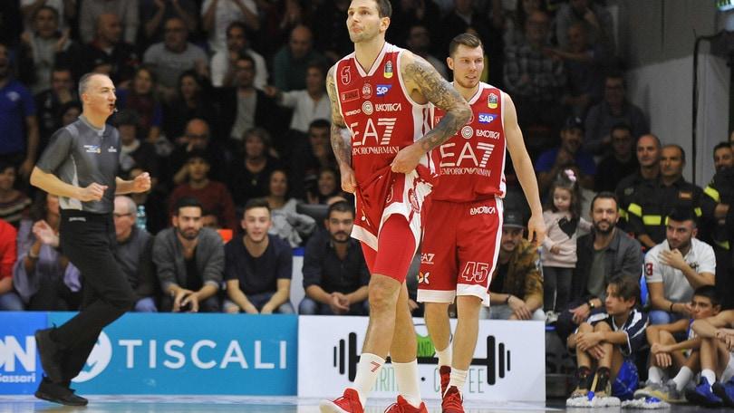 Basket, Eurolega: Milano, a 2,55 il blitz a Tel Aviv
