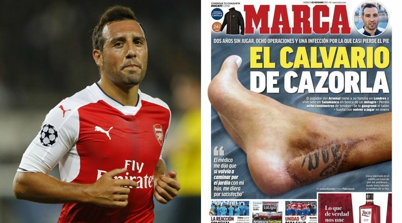 Arsenal, il dramma di Cazorla: «Mi dissero che forse non avrei più camminato»