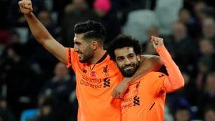 Salah trascina il Liverpool, che doppietta al West Ham!