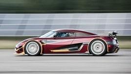 Koenigsegg Agera RS, con 444.6 km/h è l'auto stradale più veloce del mondo