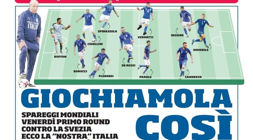 Svezia-Italia, noi la giochiamo così. E voi?