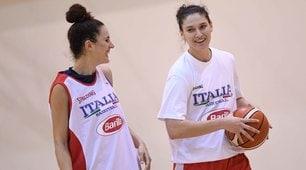 L'allenamento dell'Italia femminile