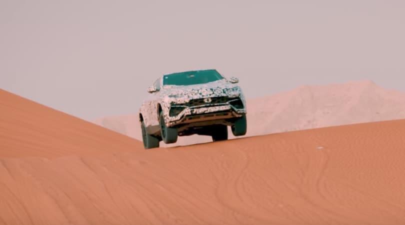 Lamborghini Urus, il Suv del Toro si svela nel deserto