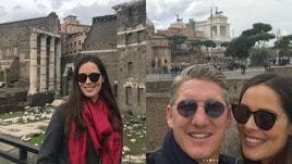 Ana Ivanovic a Roma: turista ai Fori Imperiali insieme a Schweinsteiger