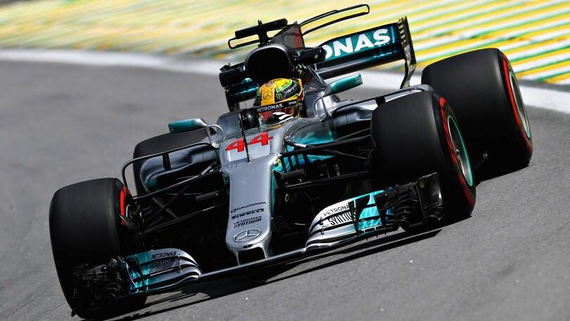 F1 Gp Brasile: doppietta Hamilton nelle libere, Vettel quarto