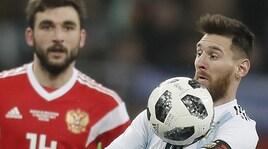 Russia-Argentina: inaugurato il nuovo pallone dei Mondiali
