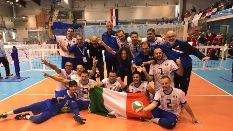 Sitting Volley: per l'Italia prima storica vittoria europea