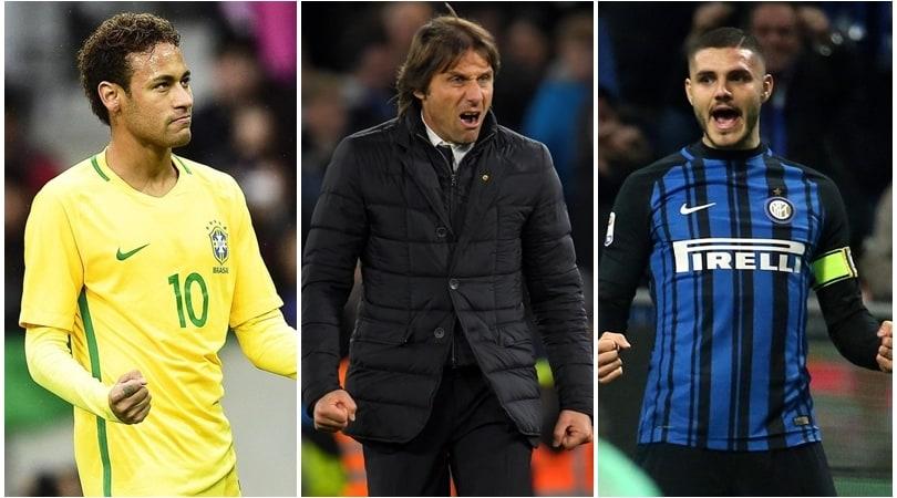 «Da Neymar un pianto... Real. E Conte pretende Icardi»
