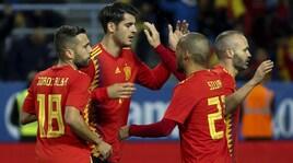 Spagna-Costa Rica 5-0: debutto per Luis Alberto