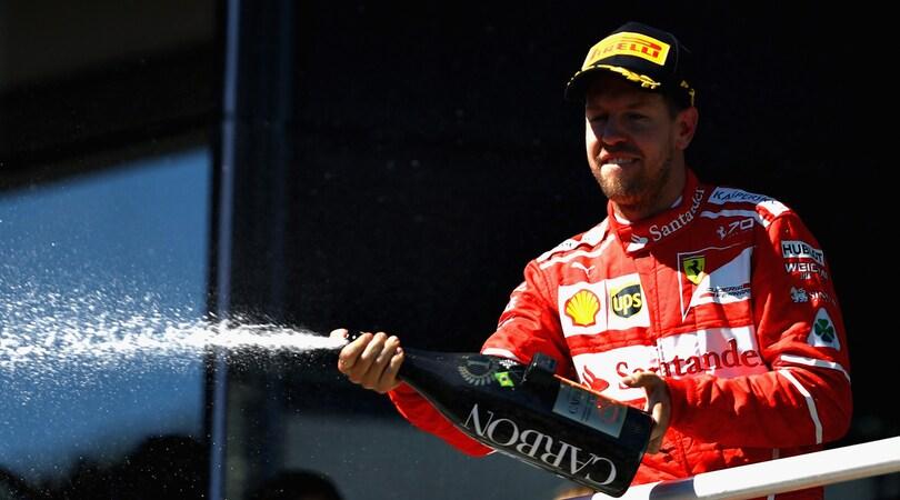 F1 Gp Brasile, Vettel: «Felice di vedere due Ferrari sul podio»