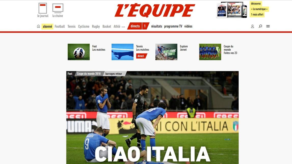 Mondiali Russia 2018: la reazione dei media stranieri all'eliminazione dell'Italia