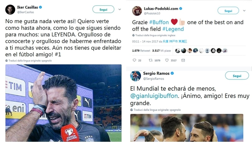 Il calcio mondiale rende omaggio all'addio di Buffon: «Leggenda»
