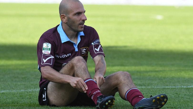 Serie B Salernitana, Rosina stop: un mese a riposo